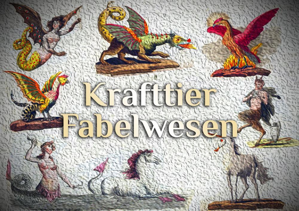 Elementares Krafttier Alphabet (Mystisch)