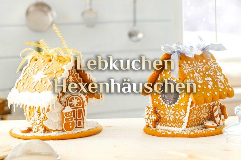 Lebkuchenhaus Rezept 🍪  festliches Hexenhäuschen  Hexenhaus backen