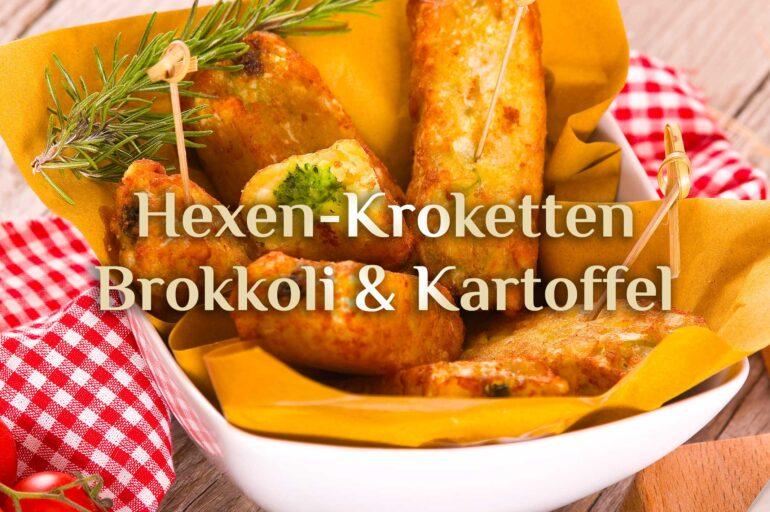 Veganes Rezept 🥦 Brokkoli-Kroketten 🥦 Hexenküche